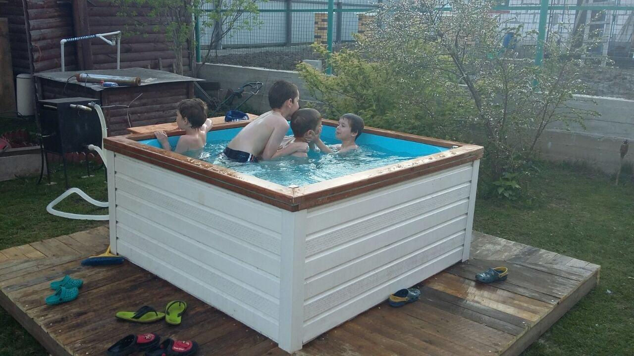 Бассейн для воды на даче своими руками 881