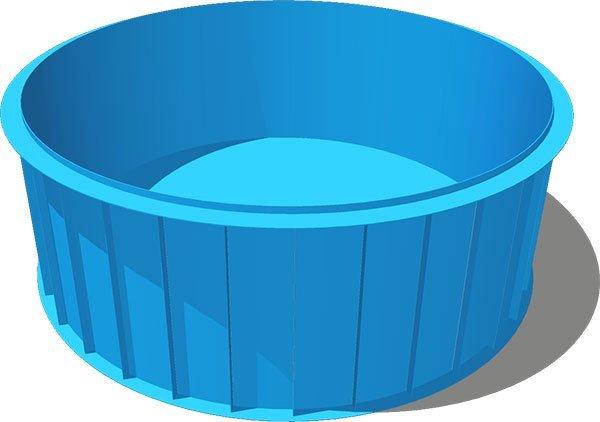 Чаша для бассейна из полипропилена